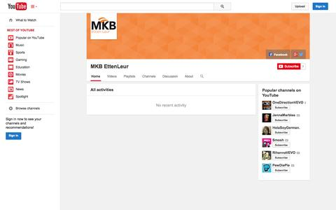 Screenshot of YouTube Page youtube.com - MKB EttenLeur  - YouTube - captured Oct. 25, 2014