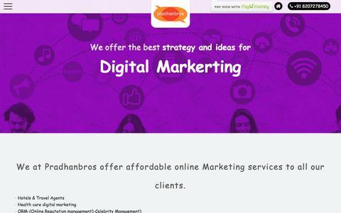 Screenshot of Press Page pradhanbros.com - Digital Markerting - captured Feb. 17, 2018