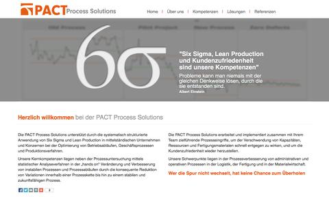 Screenshot of Home Page pact-im.com - PACT Process Solutions. Torsten Tolle - captured Oct. 1, 2014