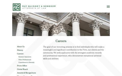 Screenshot of Jobs Page rqn.com - Utah Law Careers   Ray Quinney & Nebeker - captured Dec. 12, 2016
