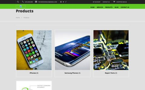Screenshot of Products Page techmission.us - Products | Techmission - captured Feb. 23, 2016