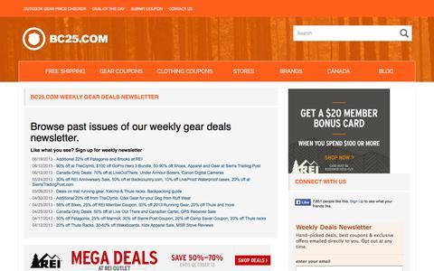 Screenshot of Press Page bc25.com - Bc25.com Weekly Gear Deals Newsletter - BC25.com - captured Oct. 4, 2014