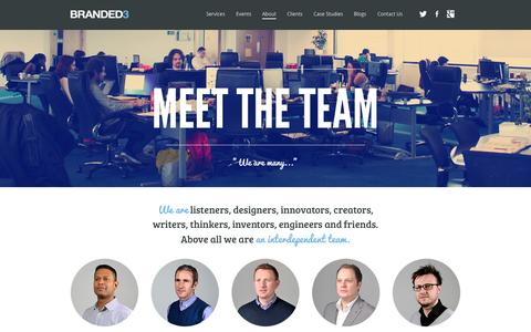 Screenshot of Team Page branded3.com - Read About Our Digital Marketing Experts - Branded3 - captured Sept. 18, 2014