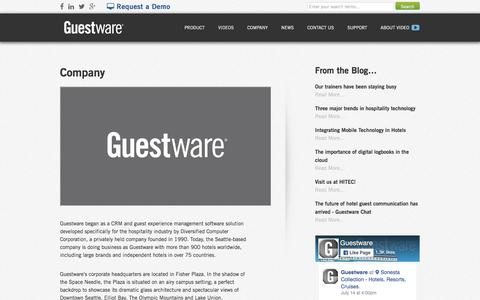 Guestware Company Profile - CRM Software for the Hotel Industry