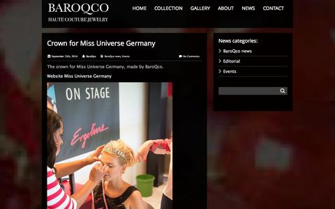 Screenshot of Press Page baroqco.com - BaroQco - BaroQco is worn by that particular modern woman who stands out with her own fashion desire and style. - captured Oct. 29, 2014