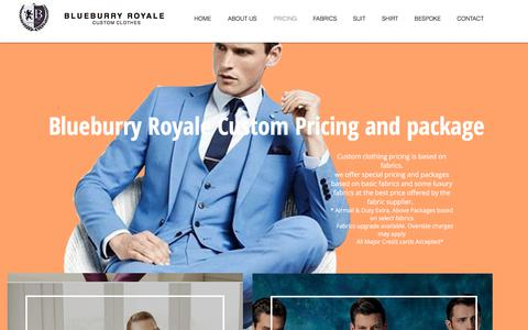 Screenshot of Pricing Page blueburryroyale.com - PRICING   United States   Blueburry Royale Custom Clothes - captured Sept. 14, 2018