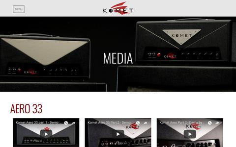 Screenshot of Press Page kometamps.com - Media | Komet Amplification - captured Feb. 18, 2018