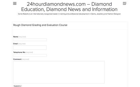 Rough Diamond Grading and Evaluation Course | 24hourdiamondnews.com – Diamond Education, Diamond News and Information