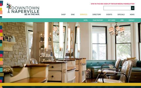 Screenshot of Services Page downtownnaperville.com - Services - Downtown Naperville - captured Oct. 24, 2018