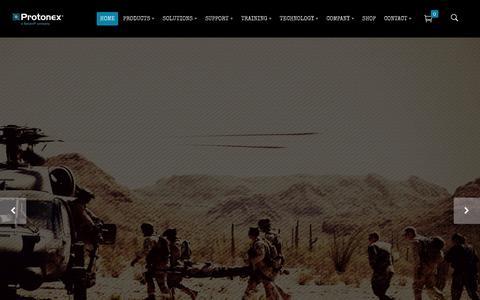 Screenshot of Home Page protonex.com - Protonex – A Ballard Smart Energy Company - captured May 10, 2016