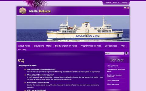 Screenshot of FAQ Page maltadeluxe.com - FAQ - captured Oct. 9, 2014
