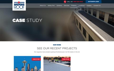 Screenshot of Case Studies Page nationsroof.com - Case Studies | Nations Roof - captured Oct. 20, 2018