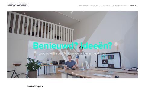 Screenshot of Contact Page studiowiegers.nl - Professionele infographic laten maken? | Studio Wiegers - Contact - captured Nov. 27, 2018