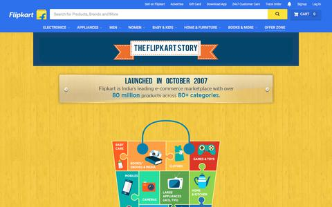 Screenshot of About Page flipkart.com - About Us - captured Aug. 23, 2017