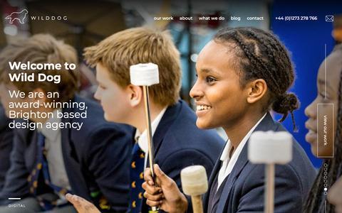 Screenshot of Home Page wilddogdesign.co.uk - Wild Dog Design - Award-winning digital design agency in Brighton - captured Nov. 10, 2018