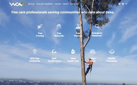 Screenshot of Services Page westcoastarborists.com - Services - captured Oct. 20, 2018