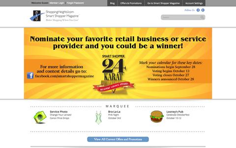 Screenshot of Home Page shoppingheights.com - Shopping Heights — Better Shopping Where you Live - captured Oct. 4, 2014