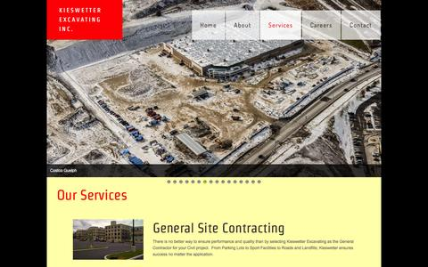 Screenshot of Services Page kieswetter.com - Services - captured Feb. 12, 2016