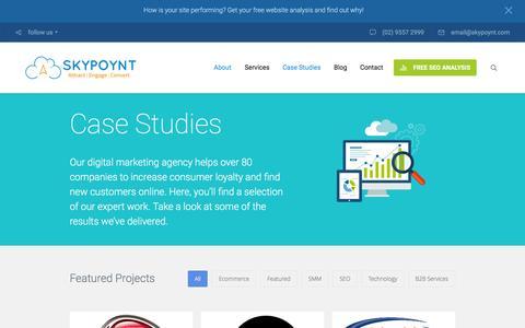 Screenshot of Case Studies Page skypoynt.com - Case Studies - Skypoynt - captured Feb. 22, 2016