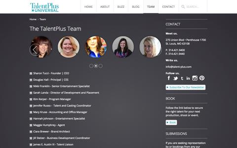 Screenshot of Team Page talentpl.us - The TalentPlus Team - captured Oct. 7, 2014