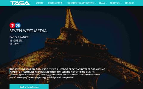 Screenshot of Case Studies Page travelandsports.com.au - Case Studies | Travel & Sports Australia - captured Dec. 12, 2016