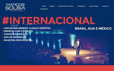 Screenshot of Home Page marcossousa.com.br - Marcos Sousa – #Seja Extraordinário - captured Oct. 21, 2018