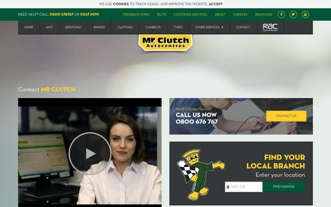 Screenshot of Contact Page mrclutch.com - Contact Mr Clutch | Email Us, Phone Us or Write To Us - captured June 28, 2017