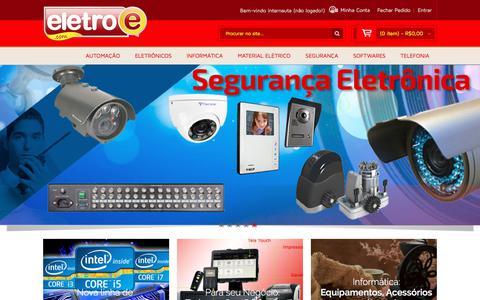 Screenshot of Home Page eletroe.com.br - EletroE - Tudo em Tecnologia e Interatividade Tudo em Tecnologia e Interatividade - captured July 17, 2018