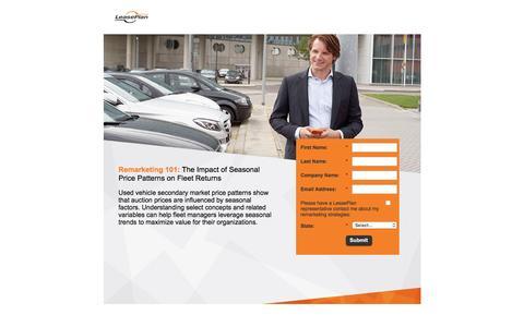 Screenshot of Landing Page leaseplan.com captured Oct. 27, 2016