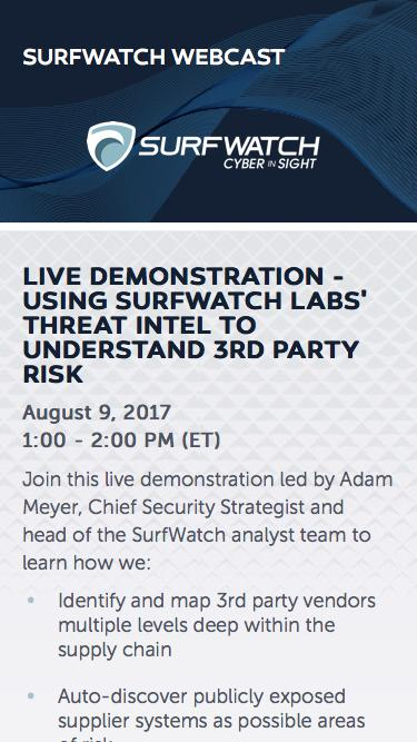 Using SurfWatch Labs' Threat Intel to Understand 3rd Party Risk