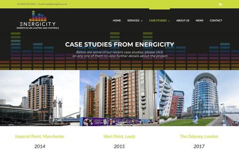Screenshot of Case Studies Page energicity.co.uk - Case Studies - Energicity - captured Sept. 28, 2018