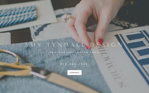 Screenshot of Home Page amytyndall.com - AMY TYNDALL DESIGN - captured Oct. 3, 2018