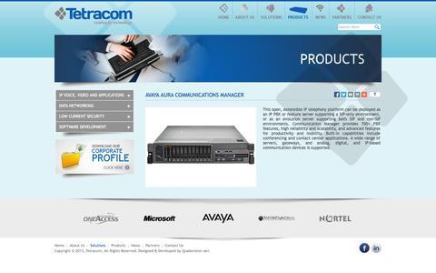 Screenshot of Products Page tetracom.com.lb - Tetracom s.a.l - Products - captured Oct. 6, 2014