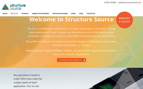 Screenshot of About Page structuresource.com - About Us - Structure Source - captured Nov. 18, 2018