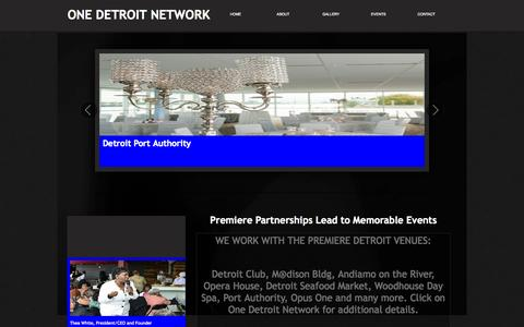 Screenshot of About Page onedetroitnetwork.com - About - captured Sept. 30, 2014