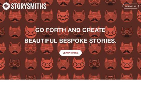Screenshot of Home Page storysmithsmedia.com - Storysmiths - captured Oct. 7, 2014