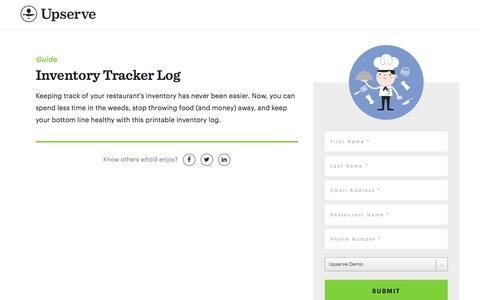 Screenshot of Landing Page upserve.com - Restaurant Inventory Management Template | Upserve - captured April 9, 2018