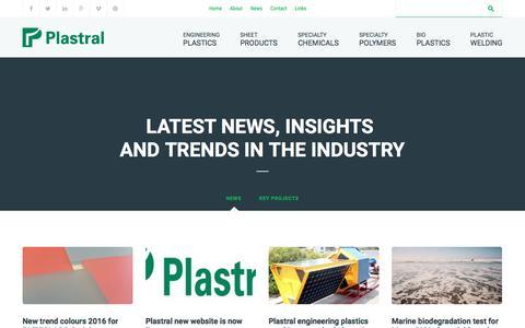 Screenshot of Press Page plastral.com.au - News Archives - Plastral - captured July 9, 2016