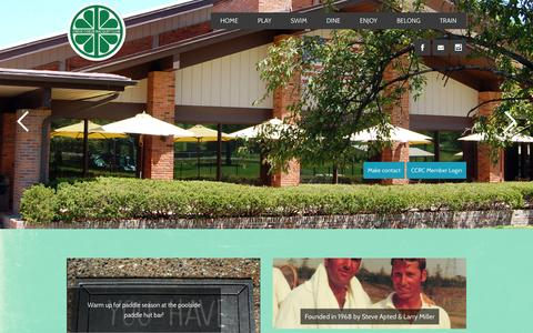 Screenshot of Home Page ccrctennis.com - Front Page - CCRC - captured Oct. 3, 2014