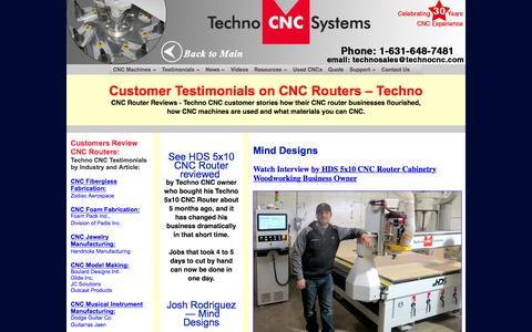 Screenshot of Testimonials Page technocnc.com - Customer Testimonials CNC Routers – Techno CNC Router Reviews - captured Nov. 29, 2016