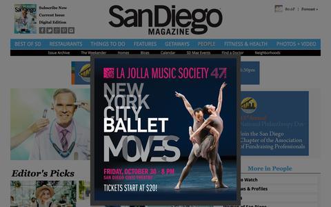 Screenshot of Team Page sandiegomagazine.com - San Diego People - captured Oct. 14, 2015
