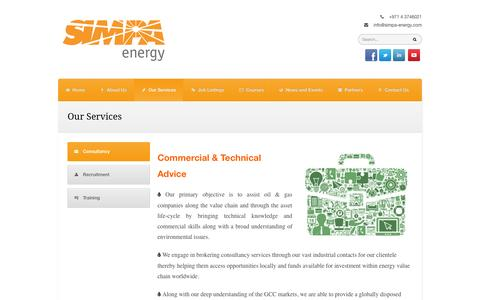 Screenshot of Services Page simpa-energy.com - Our Services | SIMPA Energy - captured Oct. 3, 2014