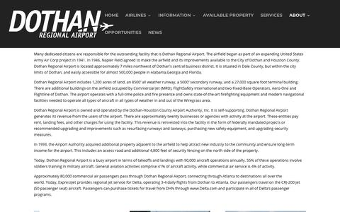 Screenshot of About Page flydothan.com - About Us - Fly Dothan - captured Nov. 14, 2018