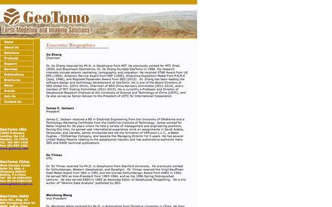 Screenshot of Team Page geotomo.com - GeoTomo-Earth Modeling and Imaging Solutions - captured Oct. 2, 2014