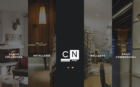 Screenshot of Home Page cnarredamento.it - Arredi su misura per case,hotel e spa | Cn Arredamenti - captured Jan. 23, 2016