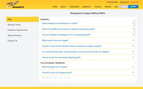 Screenshot of FAQ Page deepetch.com - Frequently asked questions (FAQ) | Deepetch - captured Sept. 20, 2018