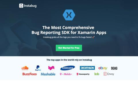 Screenshot of Landing Page instabug.com - (2) New Messages! - captured Dec. 3, 2019