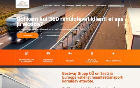 Screenshot of Home Page bwg.ee - Avaleht - BWG - captured Feb. 7, 2016