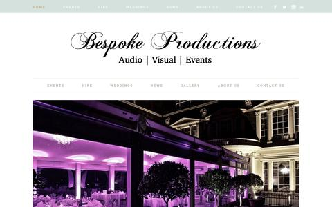 Bespoke Productions – Audio | Visual | Events