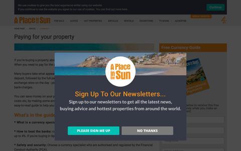 Currency Exchange Advice for Overseas Property Buyers